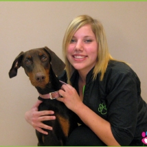 Brieanna with her dog Tanner