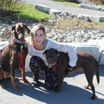 Brieanna and her dogs Tanner & Coco