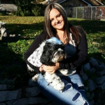 Dana with her dog, Oreo