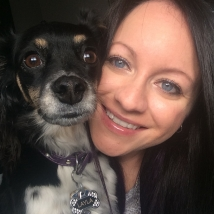 Kirsty with her dog, Layla