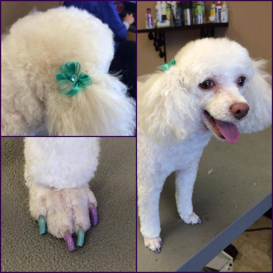 Beba's spring nails and matching bows