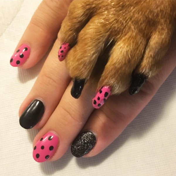 Matching nails with mom!