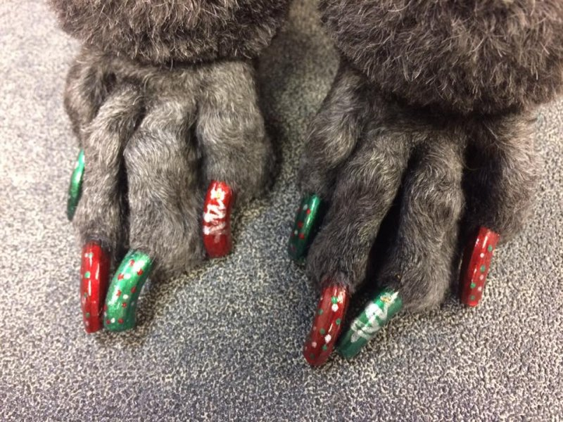 Sadie's Christmas nails