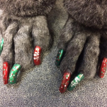Sadie's Christmas nails