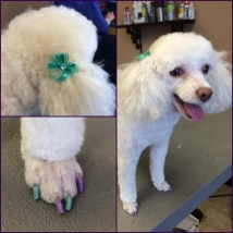 Beba's spring nails and matching bows