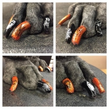Sadie's Halloween nail stamps!