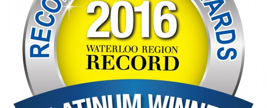 Waterloo Region Record Reader Awards Winner!
